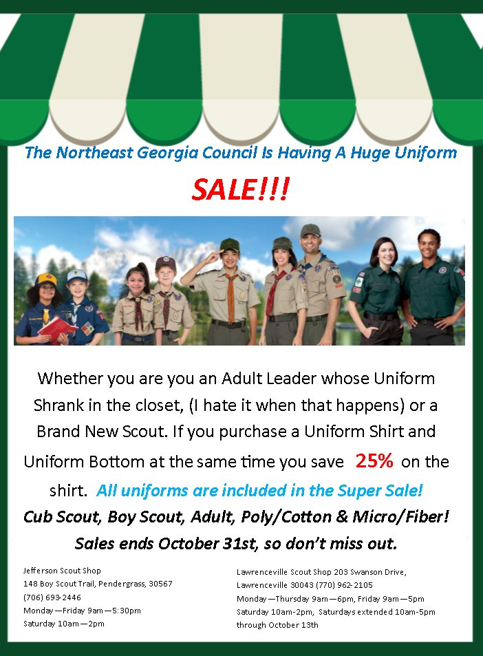NorthEastGACUniformSale